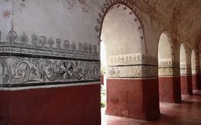 Обои Стена, Роспись, Арка