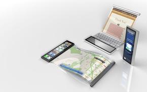 Картинка дизайн, отражение, Apple, concept, iScroll
