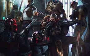 Картинка арт, Звездные войны, Denys Tsiperko, Киберпанк байкеры, Star Wars Challenge, Cyberpunk bikers, Денис Циперко