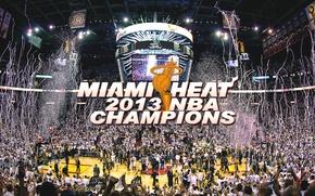 Картинка Майами, Спорт, Люди, Баскетбол, Miami, NBA, Арена, Heat, Хит, Чемпионы, Площадка