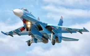 Картинка полет, истребитель, су-27