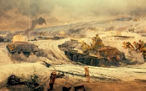 Картинка панорама, фрагмент, город-герой Волгоград, «Сталинградская битва»