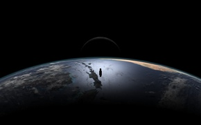 Обои луна, атмосфера, Планета