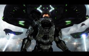 Картинка корабли, Halo, spaceship, Master Chief