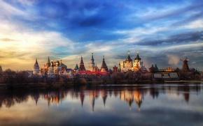 Картинка отражение, Москва, кремль