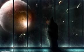 Обои Планета, окно, зло