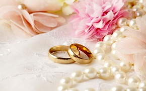 Обои цветы, flowers, свадьба, кольца, ring, lace, soft, wedding, background