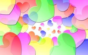 Картинка коллаж, краски, сердце, влюбленные, объем, день Святого Валентина