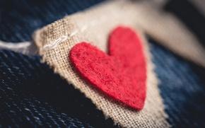 Картинка макро, фон, сердце