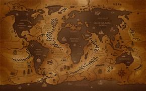 Картинка Earth, Vintage, WorldMap, Erde, Weltkarte