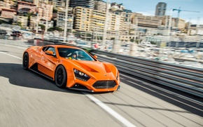Обои ST1, Zenvo, Monaco, orange, Монако, Монте-Карло, гиперкар, Monte Carlo, hypercar