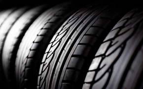 Картинка black, lines, tires, rubber