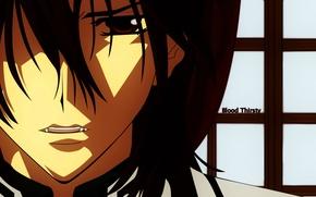 Картинка клыки, вампир, красные глаза, kuran kaname, vampire knight, рыцарь-вампир, чистокровный, by matsuri hino