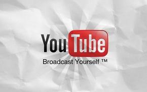 Картинка бумага, логотип, лого, youtube, видео