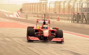 Обои Formula-1, Фото, Сахир, Бахрейна, Bahrain International Circuit, Felipe Massa, Ferrari F60, Формула-1, 2009, Боксы, Фелипе ...