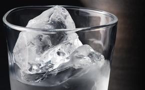 Картинка лед, вода, стакан