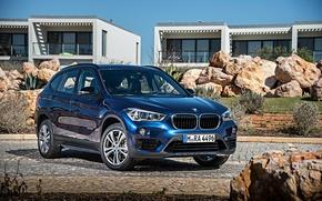 Обои синий, камни, бмв, BMW, xDrive, паркетник, Sport Line, 0015, F48