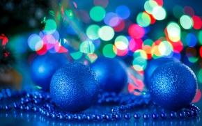 Картинка Синий, Шарики, Новый год, Праздники