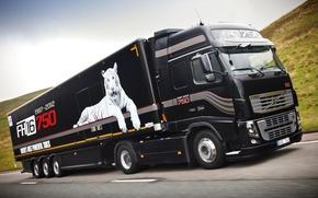 Картинка Volvo, Грузовик, Обои, Вольво, 750, Truck, Тягач, 750 л.с., FH16