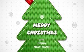 Картинка Happy New Year, Ёлка, Merry Christmas, 2015