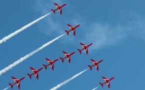 Картинка Sky, Red Arrows, Eastbourne Airshow