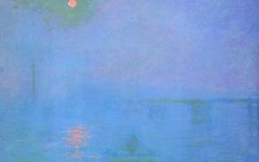 Обои Клод Моне, картина, Мост Чаринг-Кросс. Туман на Темзе, пейзаж