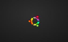 Картинка минимализм, Ubuntu Colored