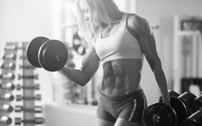 Картинка muscles, pose, female, abs, bodybuilder
