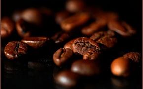 Картинка кофе, зерна, большие