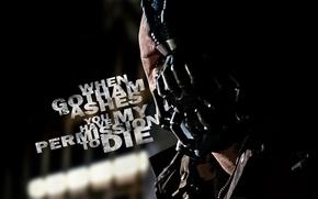 Обои Том Харди, злодей, бэйн, bane, темный рыцарь: возрождение легенды, the dark knight