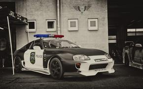 Картинка Toyota, Car, Police, Supra, JDM