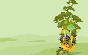 Картинка грибы, вектор, Краб