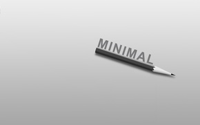 Картинка надпись, минимализм, карандаш, minimalism, слово, 1920x1200, lettering, word, pencil