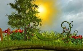 Картинка Природа, Рисунок, Nature, Арт, Art