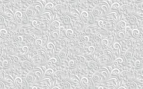 Картинка листья, узор, объем