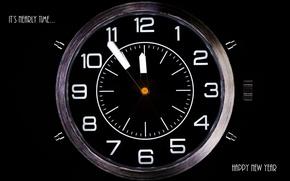 Обои часы, время, праздник