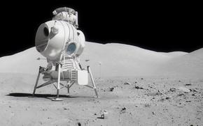Картинка Луна, СССР, Лунный корабль