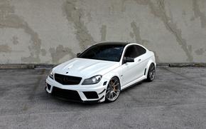 Картинка Mercedes, AMG, Black, Series, C63, HRE Wheels