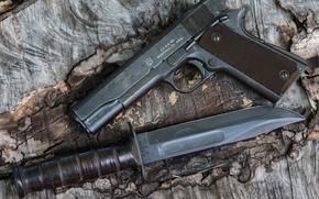 Картинка пистолет, оружие, нож, 1943, самозарядный, «mark2», Signal 1911