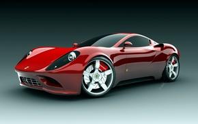 Обои красная, ferrari, машина