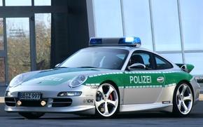 Обои полиция, порш, машина
