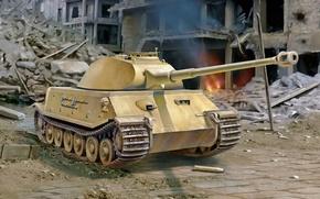 Картинка war, art, german, tank, ww2, project, VK. 45.02 (P)V