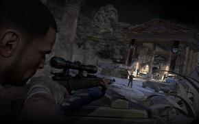 Картинка ночь, оружие, винтовка, Sniper Elite 3