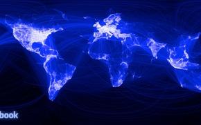 Обои саязи, коммуникации, люди, facebook, карта