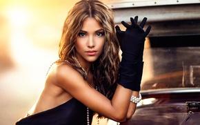 Картинка макияж, перчатки, Maggie, губки, кареглазая, Alessandro Di Cicco