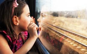 Картинка дети, отражение, печаль, ребенок, милый, sadness, child, reflection, cute, children, lonely, одинокие, train window, окна …