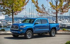 Обои пикап, 2015, Double Cab, такома, Toyota, Tacoma, тойота