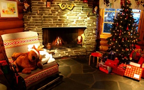 Картинка огни, праздник, елка, новый год