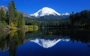Картинка небо, горы, красота, водные просторы