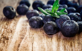 Обои blueberry, ягоды, berries, wood, голубика, fresh, черника
